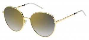Tommy Hilfiger sunglasses TH1649/S RHL/FQ ladies gold with grey mirror lens