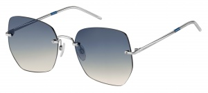 Tommy Hilfiger sunglasses TH1667/S KUF/I4 women silver with blue lens