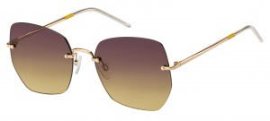 Tommy Hilfiger sunglasses TH1667/S S9E/DG ladies gold with purple/gold lens