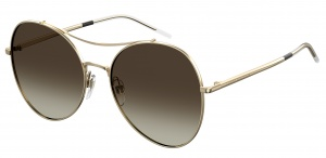 Tommy Hilfiger sunglasses TH1668/S 01Q/HA women gold with brown lens