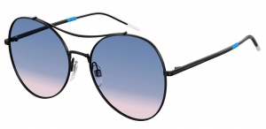 Tommy Hilfiger sunglasses TH1668/S 2F7/O ladies black with blue/pink lens