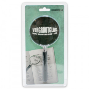 Verhaak magnifier 9 x 20 cm glass black/transparent