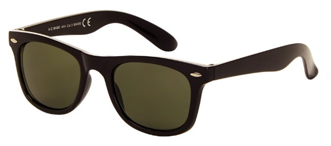 AZ-Eyewear sunglasses Classic unisex black with green lens (AZ-44)