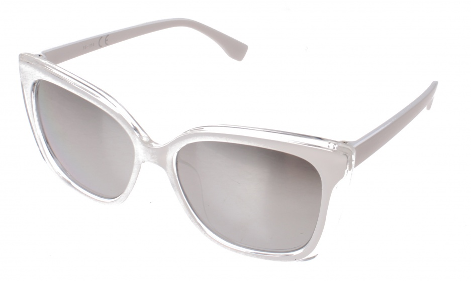 Kost white ladies' sunglasses with gray lens (16-114)