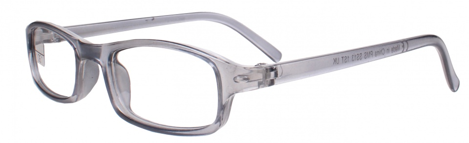 PMS reading glasses rectangular grey unisex,50