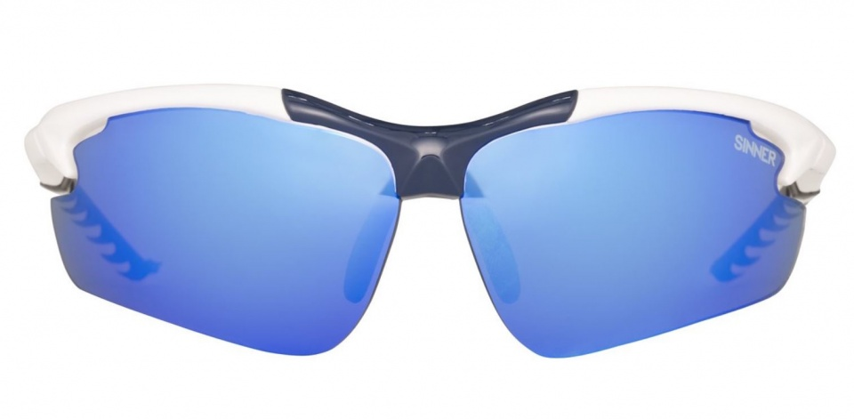 Sinner Firebug Shiny White Blue -PC Blue Revo Lens
