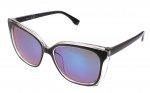 Kost sunglasses ladies black with blue lens (16-114)